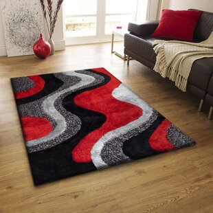 Barrera Red Black Area Rug Wayfair