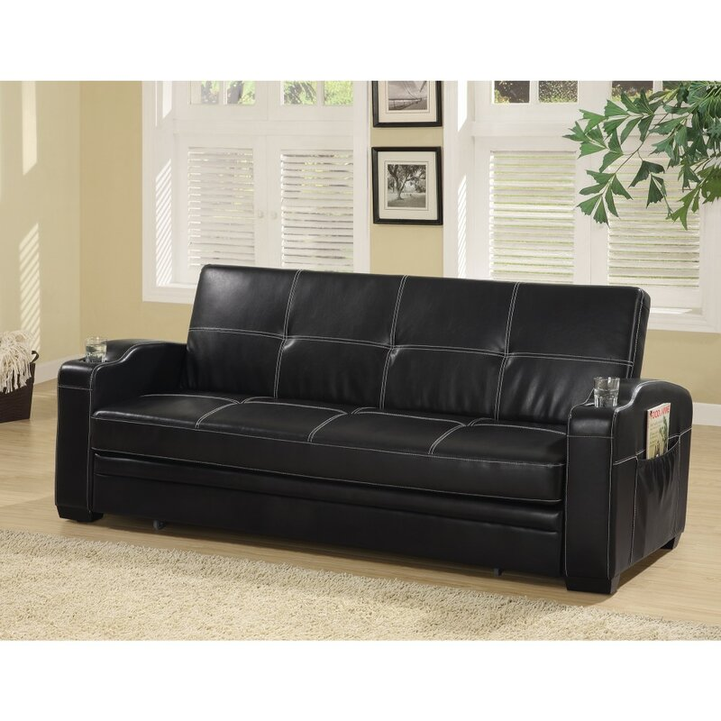 Molesworth Faux Leather Convertible Sofa