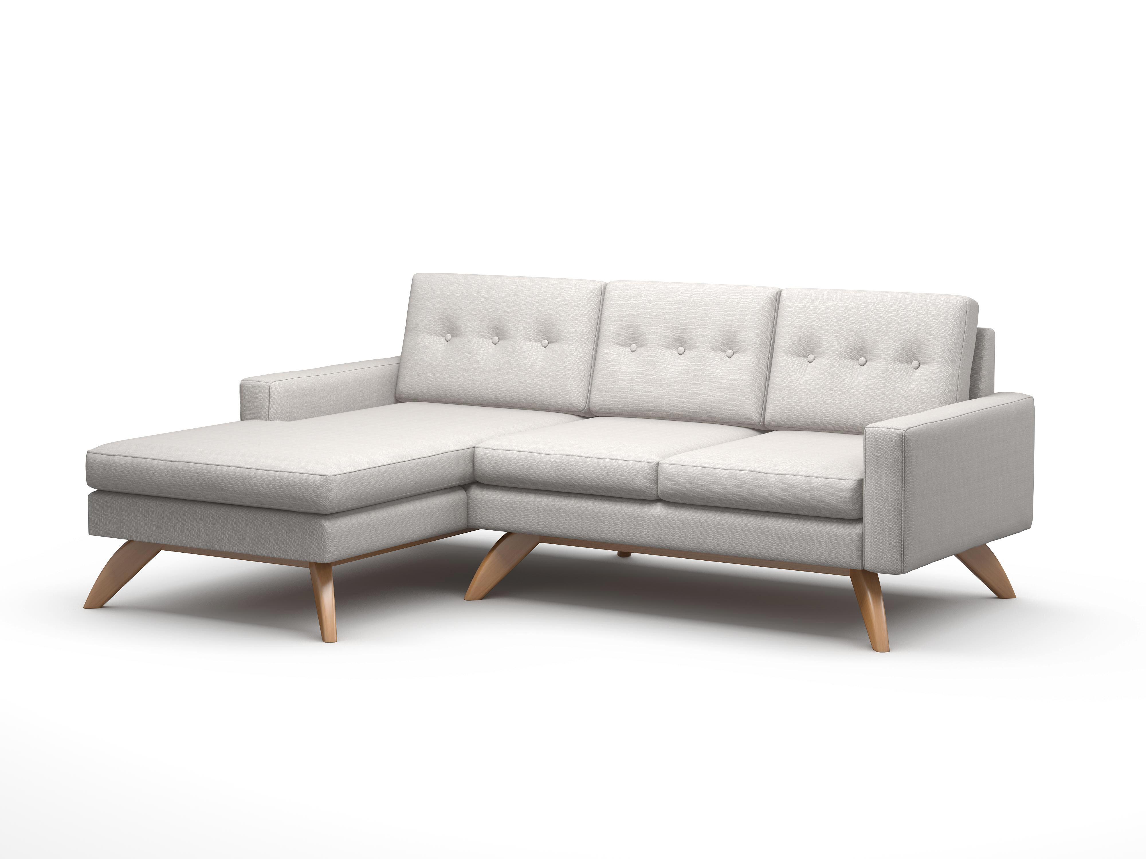 Truemodern luna 90 sofa with chaise wayfair