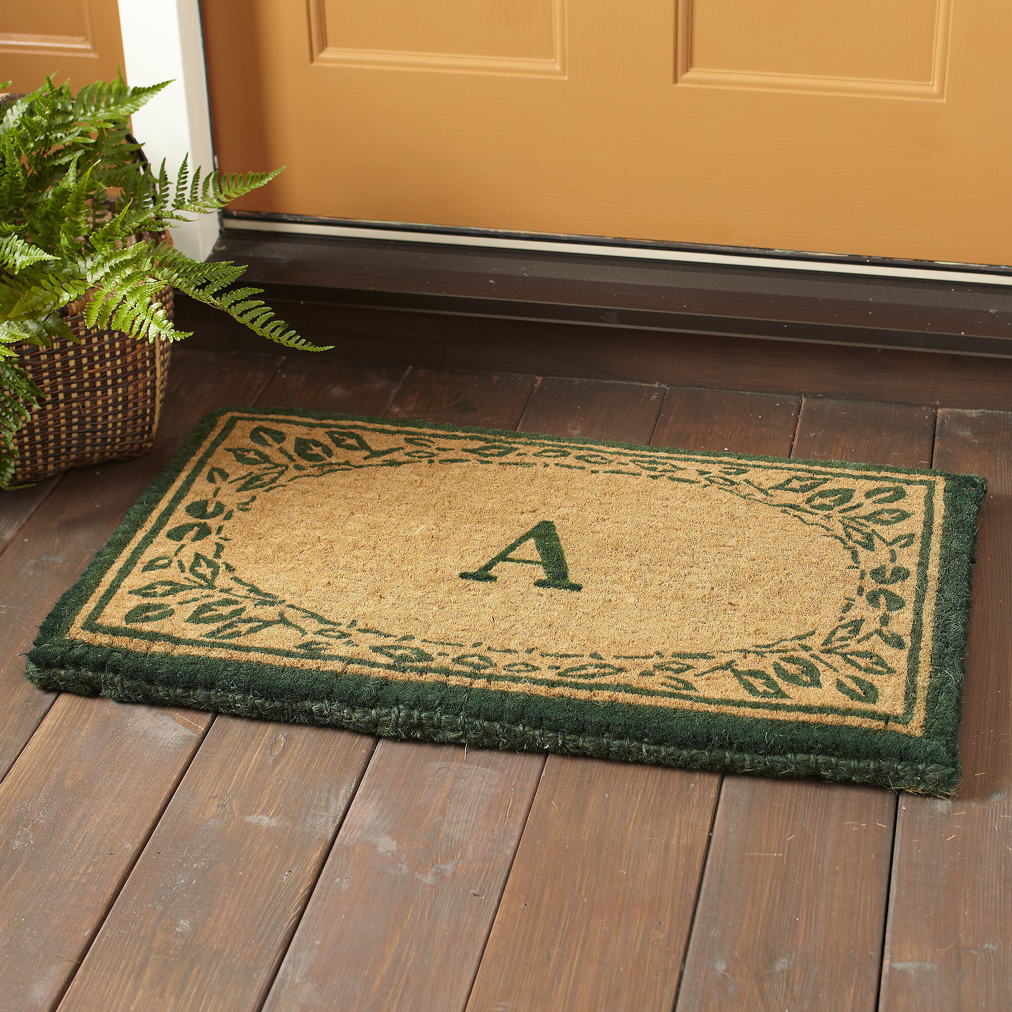 personalised welcome the h x front luxury doormat doormatpersonalized a mat mats custom door personalized customized for post w