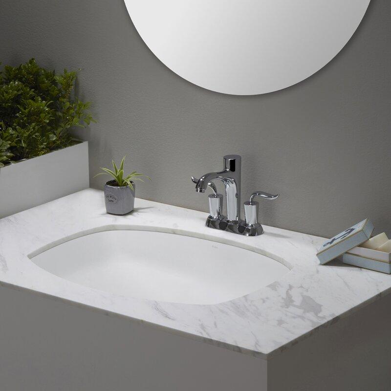 Kraus Elavo Flared Rectangular Undermount Bathroom Sink With
