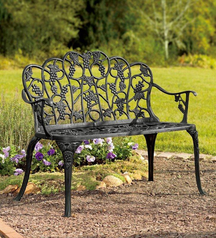 Grape Aluminum Garden Bench Amp Reviews Joss Amp Main