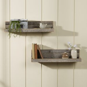 Floating Shelves vintage floating shelves | wayfair