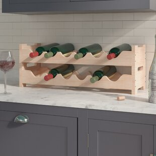 Karnes Pine Mini Scalloped 12 Bottle Tabletop Wine Rack