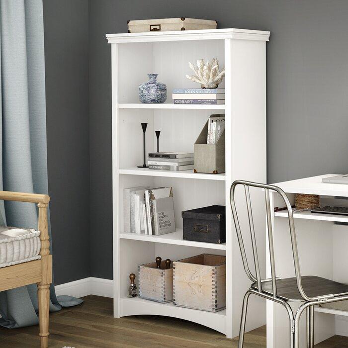 shelf reflekt raw south bookcase oak gray shore