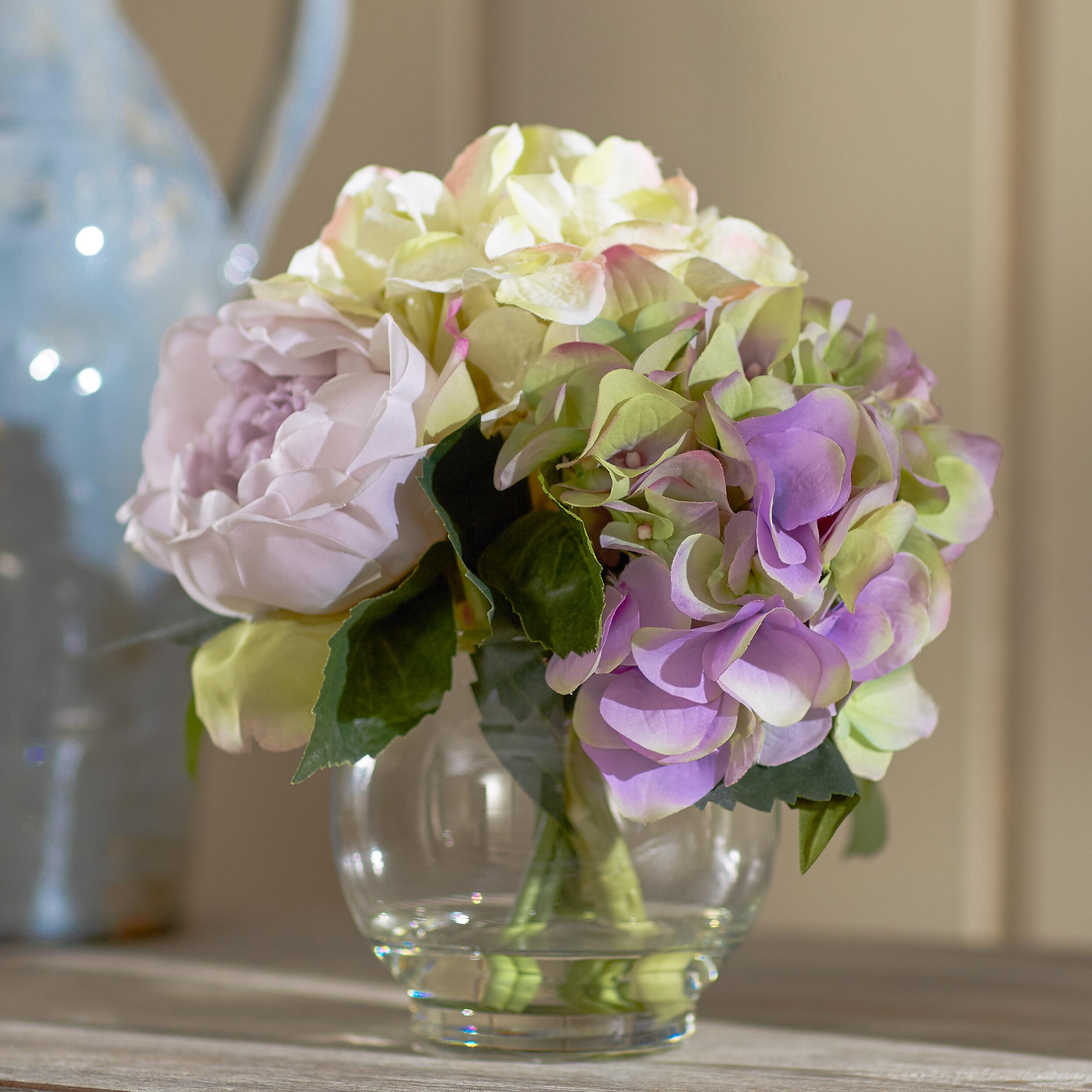Ophelia Co Lavender Mixed Pastel Floral Bouquet Reviews Wayfair