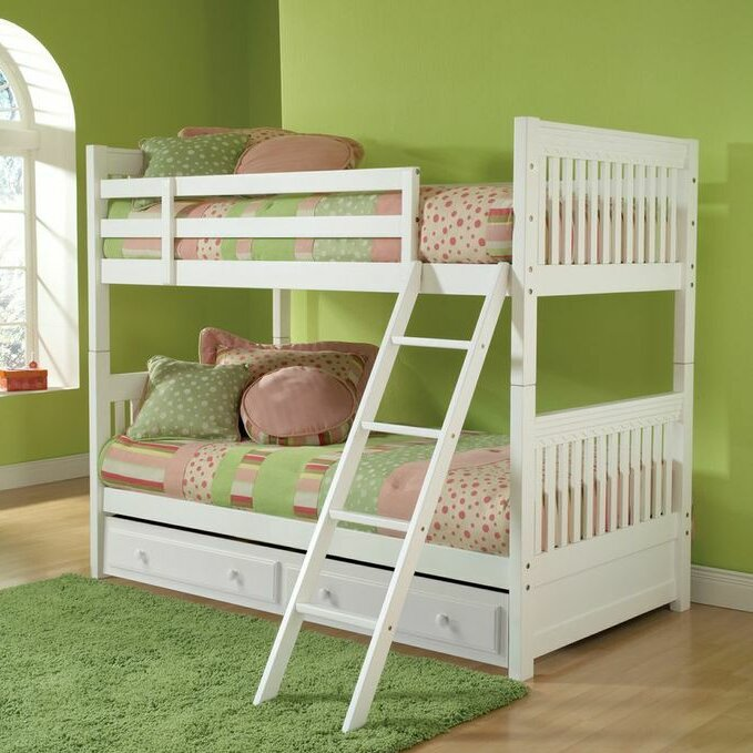 Portia Twin Over Twin Bunk Bed With Trundle Reviews Joss Main