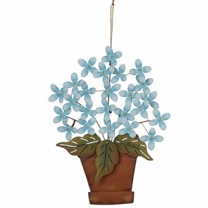 Garden Iron Flowers Planter Wall Decor