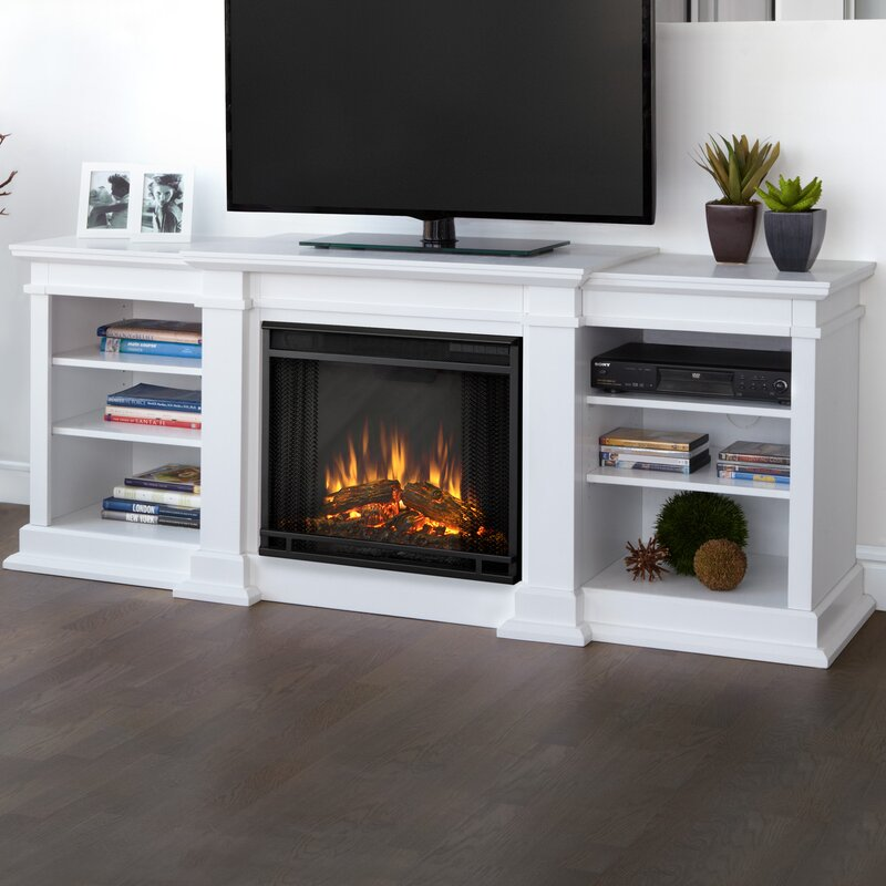 wayfair fireplace tv stand Real Flame Fresno TV Stand for TVs up to 72