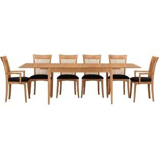 Sarah 7 Piece Extendable Solid Wood Dining Set