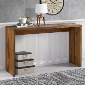Arocho Solid Reclaimed Wood Console Table