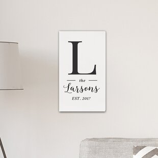 U0027Personalized Monogram Farmhouseu0027 Textual Art On Canvas