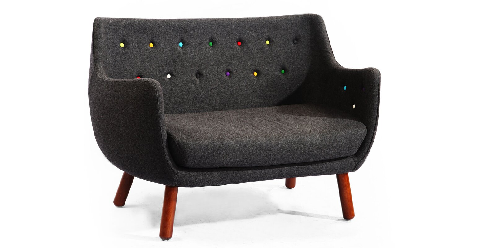 Kardiel Parlor Mid Century Loveseat & Reviews | Wayfair Ki check price on amazon velvet fabric womb chair with ottoman more than 800 items furniture for you selection www.cocofurniture.com.