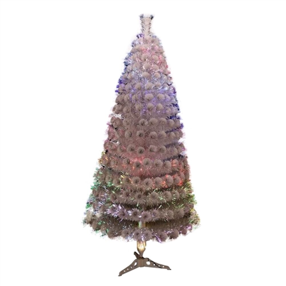 Pink Purple Artificial Christmas Tree With 125 Multi Colored Lights