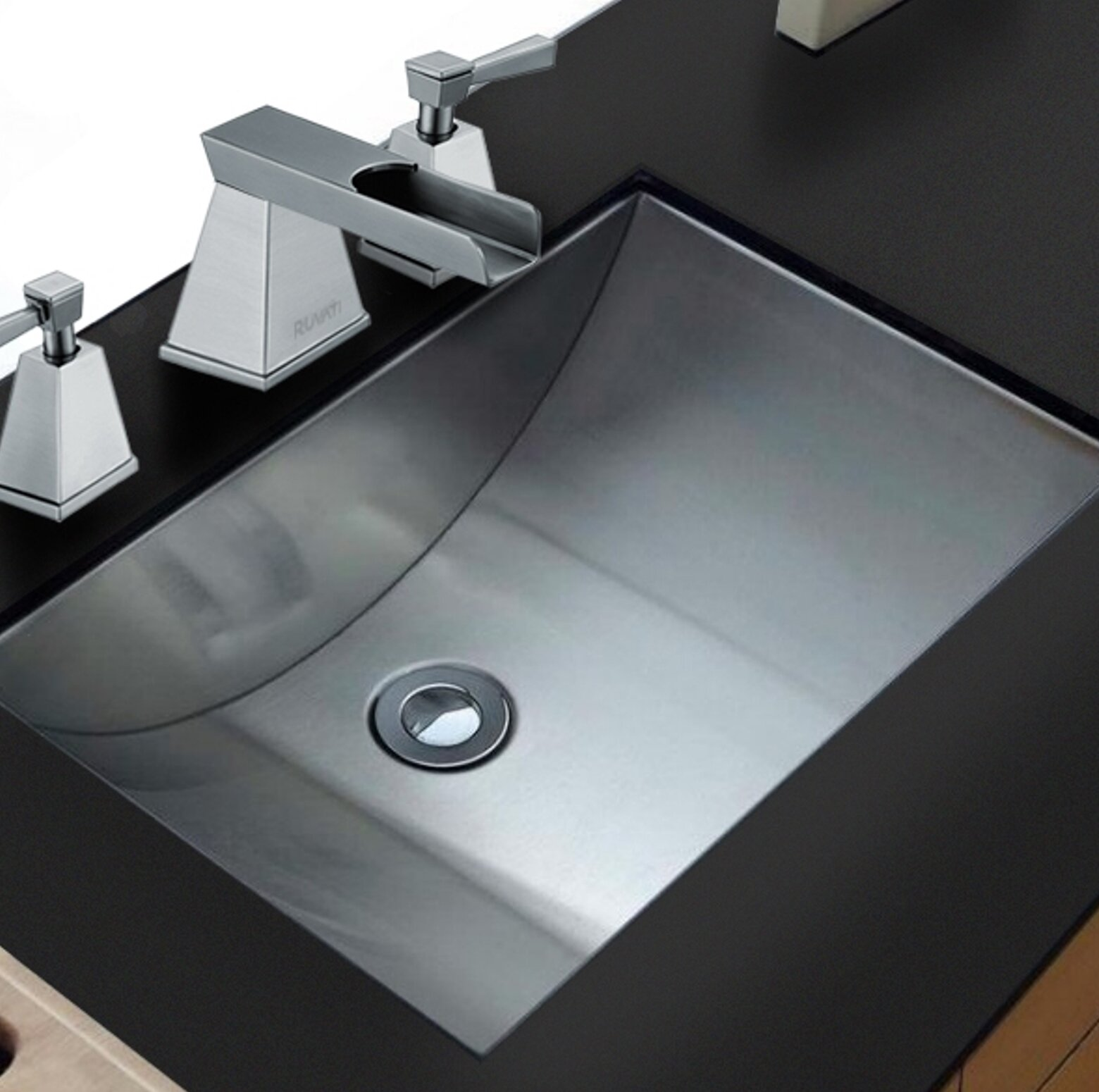 Ruvati Ariaso Metal Rectangular Undermount Bathroom Sink | Wayfair