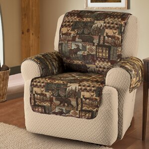 Lodge Box Cushion Recliner Slipcover by Innovative Textile Solutions