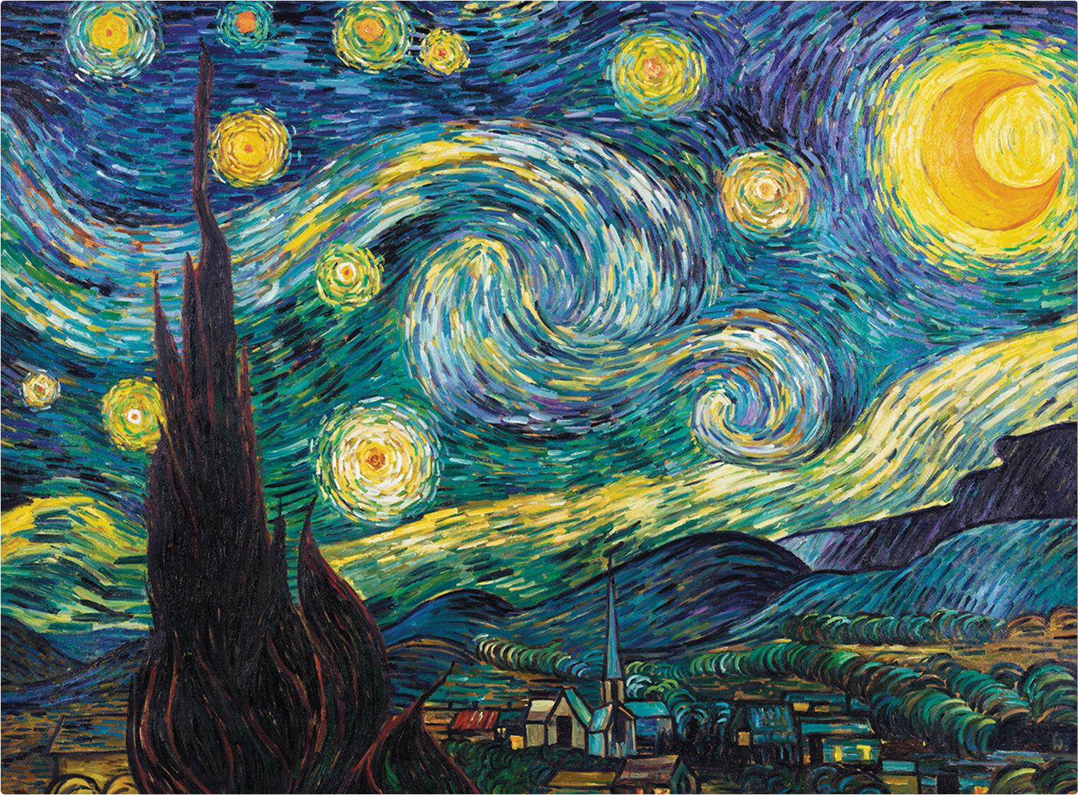 Trademark Art Starry Night Painting Print On Canvas