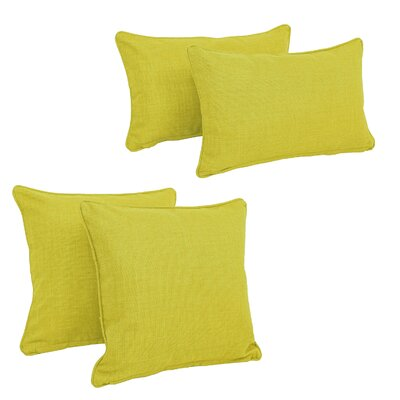 Three Posts Dunwich Indoor/Outdoor Throw Pillow Color: Lime