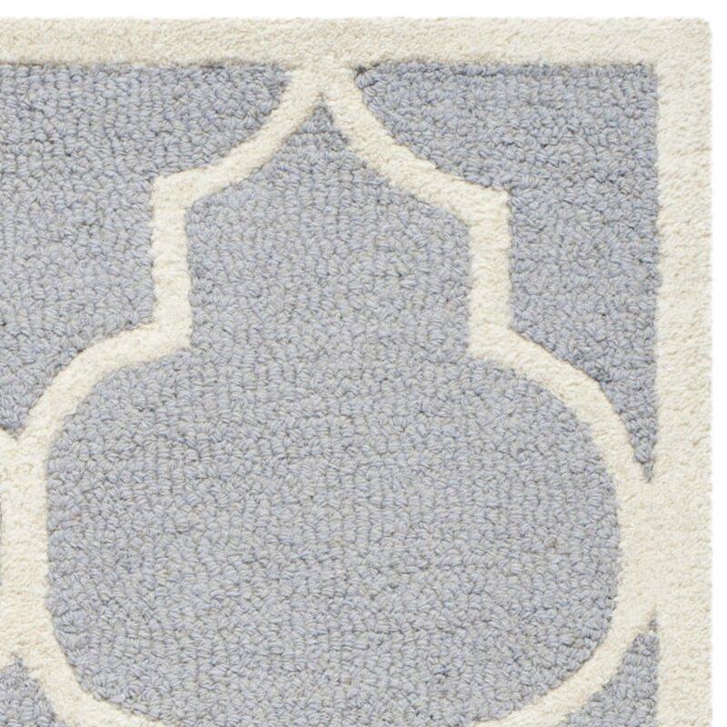 safavieh handgefertigter teppich dalton aus wolle in grau elfenbein bewertungen. Black Bedroom Furniture Sets. Home Design Ideas