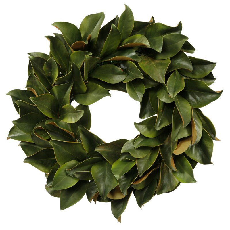 Jane Seymour Botanicals Magnolia Leaf Wreath Reviews Wayfair