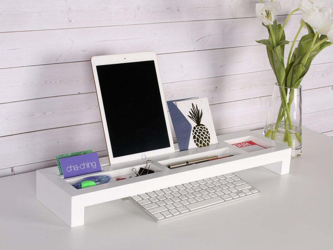wood desktop organizer keyboard bridge. symple stuff wood desktop organizer keyboard bridge  reviews