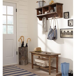 Nagel Wall Mounted Coat Rack With Bench