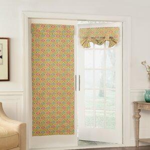 lunar lattice ikat semisheer single curtain panel