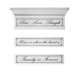 3 Piece Sentiment Insert Shelf Set