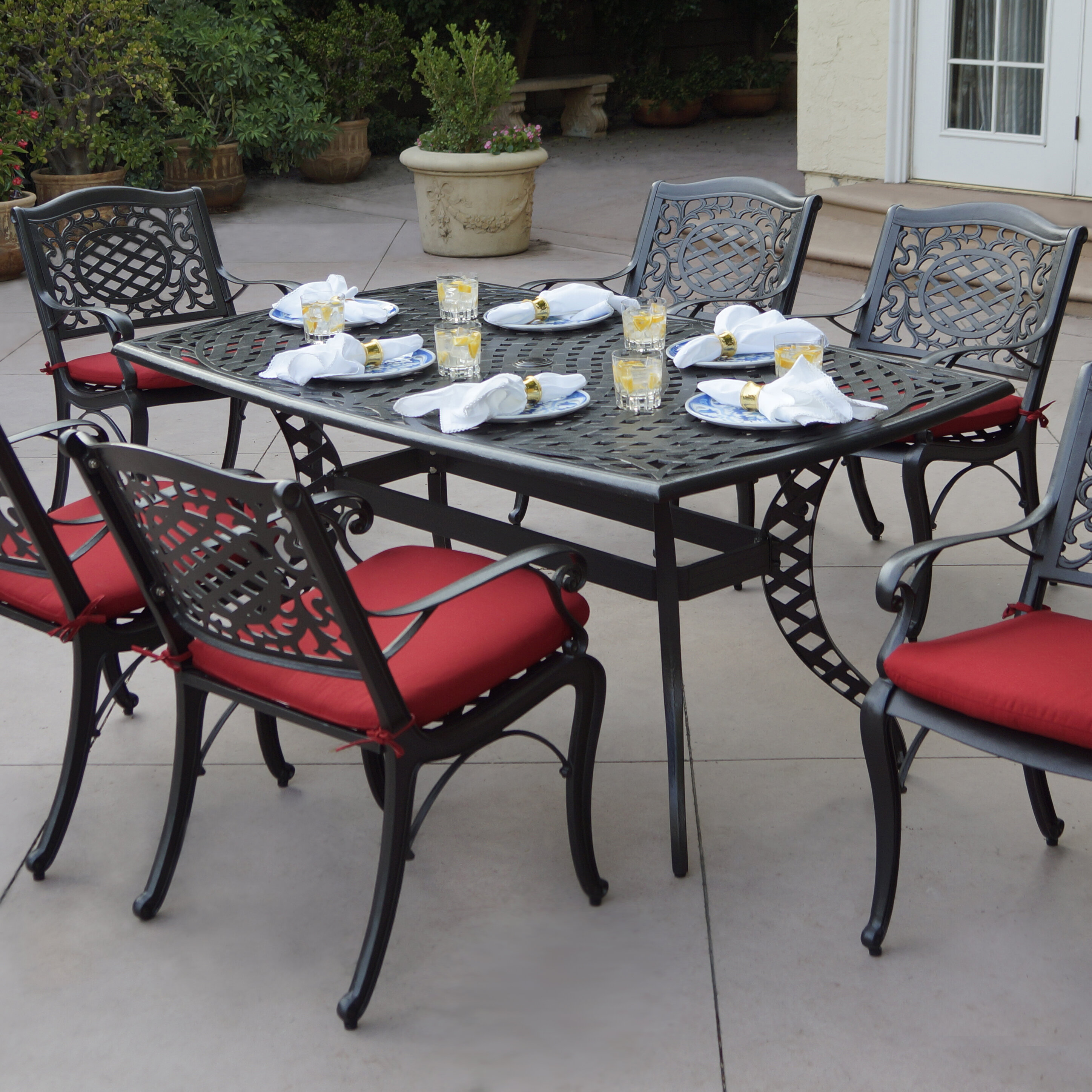 Astoria grand appleby 7 piece dining set with cushions wayfair