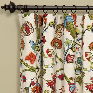 Bayliss Nature/Floral Pinch Pleat Single Curtain Panel