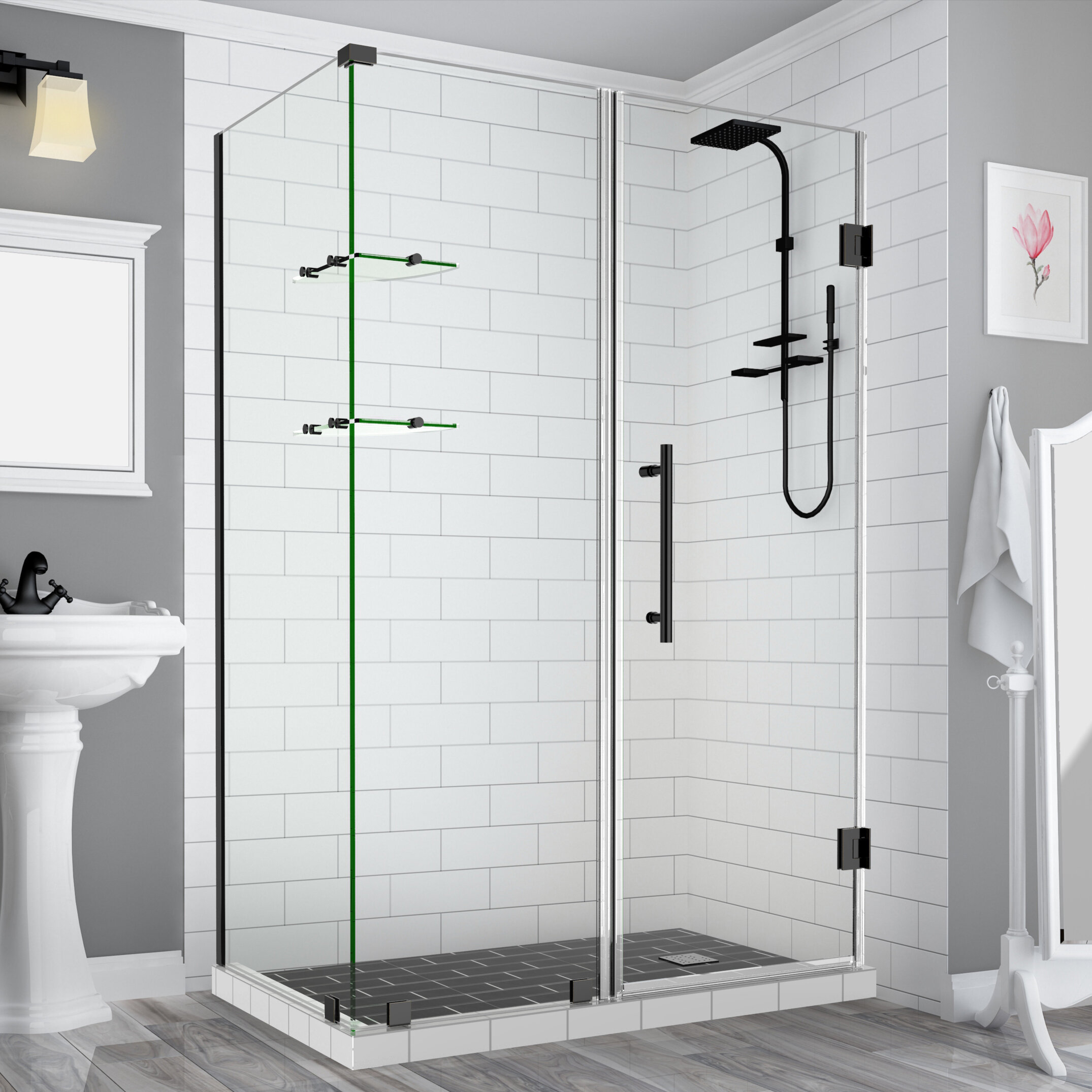 Bromley Gs Frameless 65 X 72 Rectangle Hinged Shower Enclosure