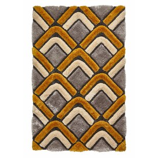Le House Hand Tufted Grey Yellow Rug