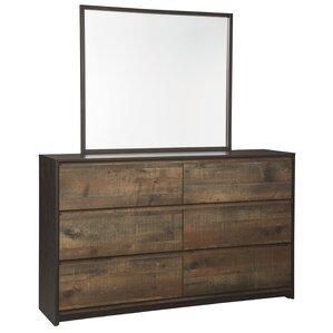 Taumsauk 6 Drawer Dresser with Mirror by Trent Austin Design