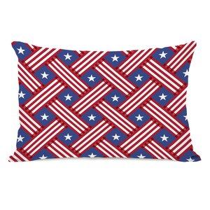 Patriot Pattern Lumbar Pillow