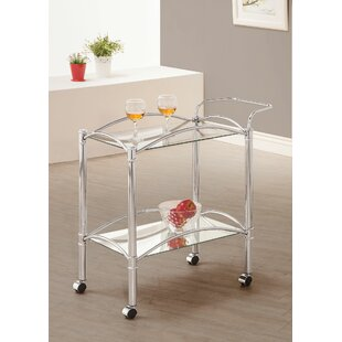 Levine Rolling Casters Kitchen Bar Cart