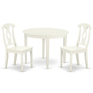 Krahn 3 Piece Solid Wood Breakfast Nook Dining Set