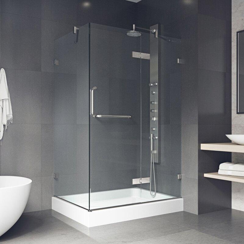 Vigo Monteray 36 X 48 In Frameless Shower Enclosure Reviews Wayfair