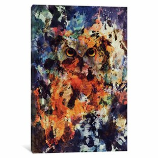 colorful owl painting wayfair