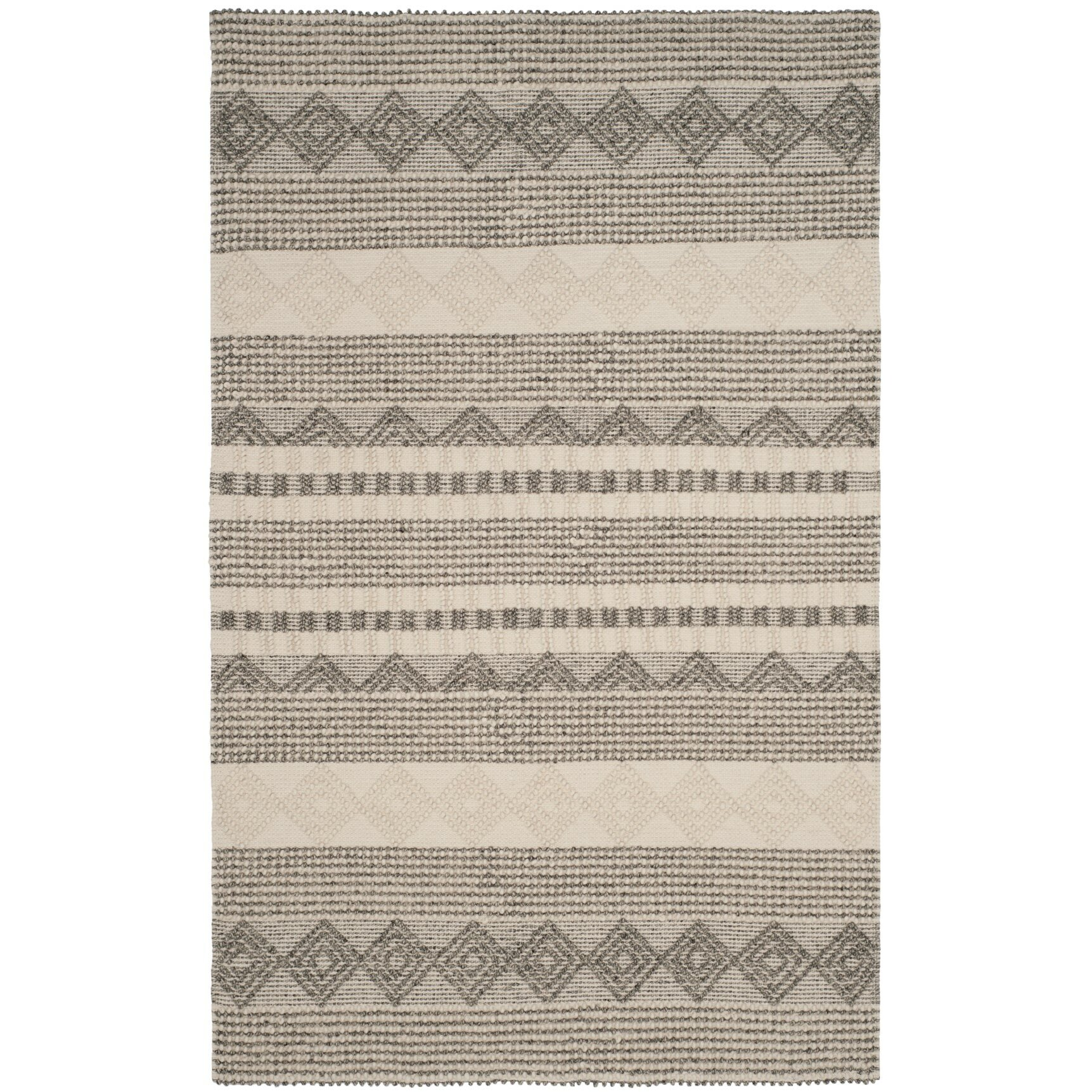 Billie Hand Tufted Gray Ivory Area Rug Amp Reviews Birch Lane