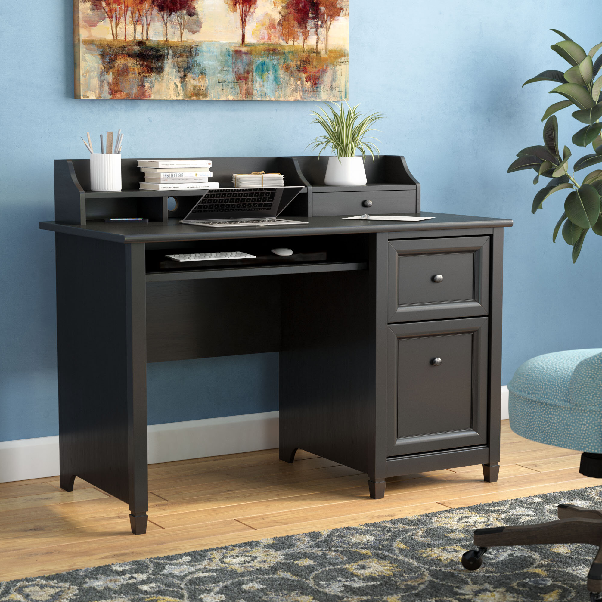 Awe Inspiring Lamantia 3 Drawer Computer Desk With Hutch Best Image Libraries Sapebelowcountryjoecom
