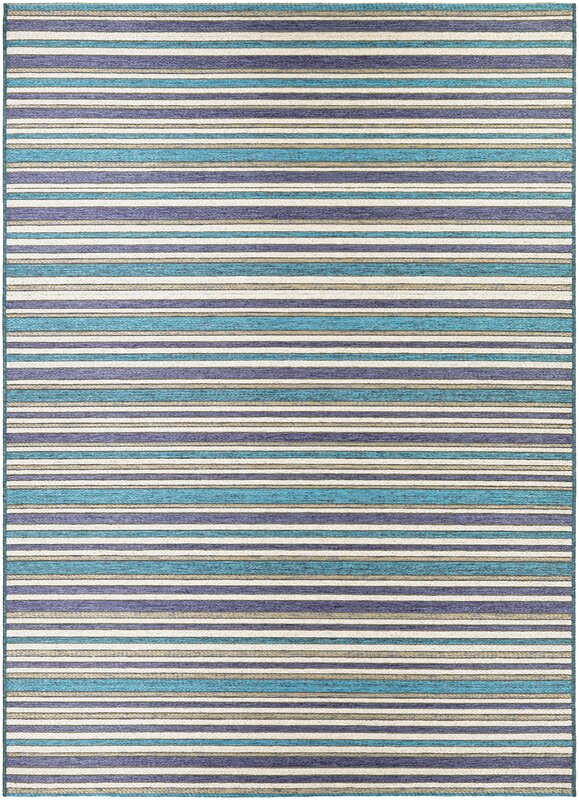 Charlton Home Holdren Cobalt/Teal Indoor/Outdoor Area Rug ...