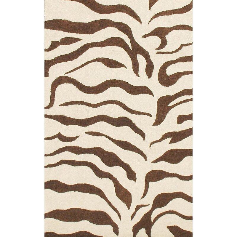 NuLOOM Earth Zebra Print Hand-Tufted Wool Brown Area Rug