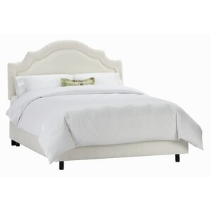 Tufted Arch Upholstered Panel Bed by Skyline Furniture