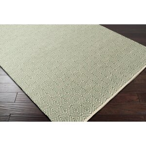 Waverly Hand-Woven Green/Red Area Rug