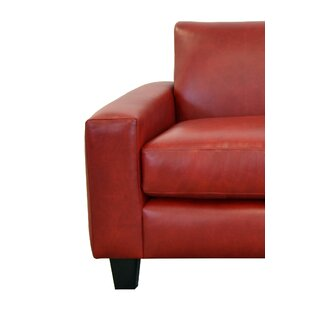 Weston Red Leather Sofa Wayfair
