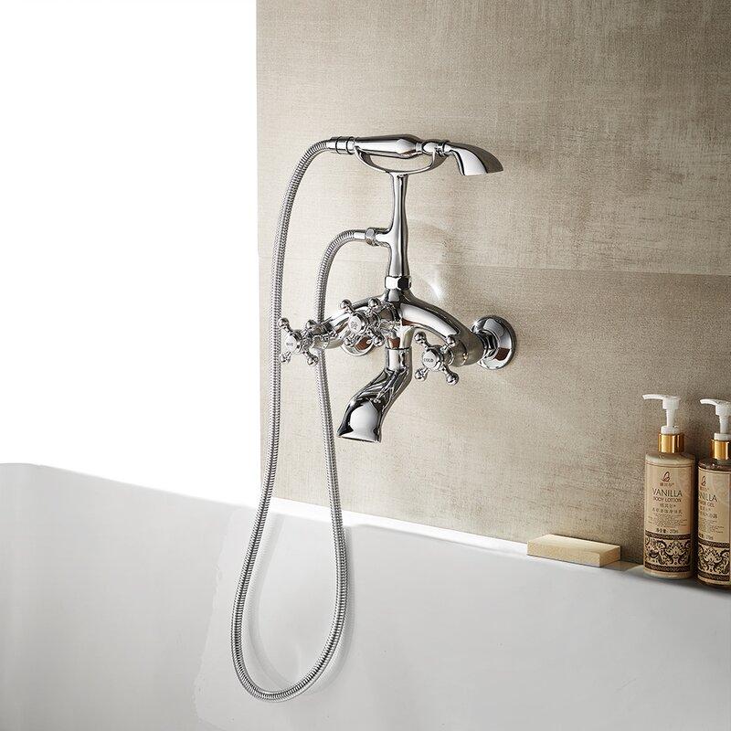Vinnova Juniper Double Handle Wall Mount Bath Shower Mixer Trim with ...