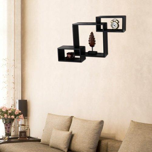 Floating Wall Shelves adecotrading rectangular square interlocking floating wall shelf