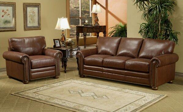 Savannah Leather Configurable Living Room Set