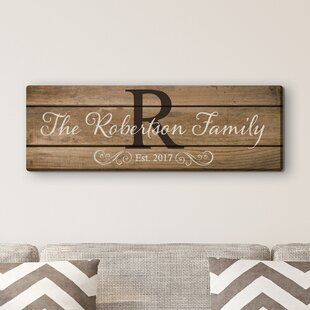 25e3fe70e2d2 'Family Name and Initial' Personalize Textual Art on Canvas