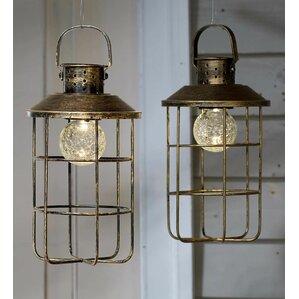 Amazing Solar 1 Light LED Outdoor Hanging Lantern (Set Of 2)
